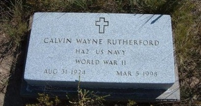 RUTHERFORD (VETERAN WWII), CALVIN WAYNE - Las Animas County, Colorado | CALVIN WAYNE RUTHERFORD (VETERAN WWII) - Colorado Gravestone Photos