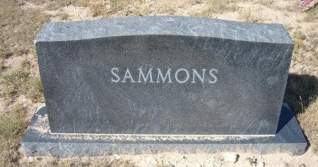 SAMMONS FAMILY GRAVESTONE,  - Las Animas County, Colorado |  SAMMONS FAMILY GRAVESTONE - Colorado Gravestone Photos