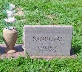 SANDOVAL, EVELYN V. - Las Animas County, Colorado | EVELYN V. SANDOVAL - Colorado Gravestone Photos