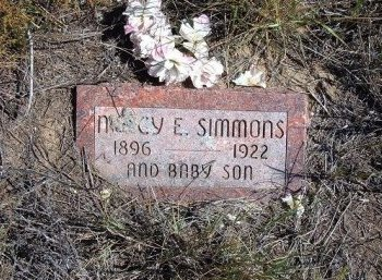 WINFREY SIMMONS, NANCY E - Las Animas County, Colorado | NANCY E WINFREY SIMMONS - Colorado Gravestone Photos