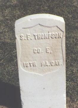 THOMPSON, S. F. - Las Animas County, Colorado   S. F. THOMPSON - Colorado Gravestone Photos