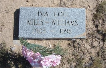 WILLIAMS, IVA LOU MILLS - Las Animas County, Colorado | IVA LOU MILLS WILLIAMS - Colorado Gravestone Photos