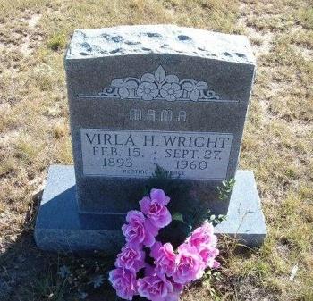 WRIGHT, VIRLA H - Las Animas County, Colorado | VIRLA H WRIGHT - Colorado Gravestone Photos