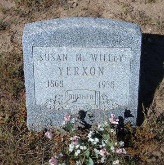 YERXON, SUSAN M WILLEY - Las Animas County, Colorado   SUSAN M WILLEY YERXON - Colorado Gravestone Photos