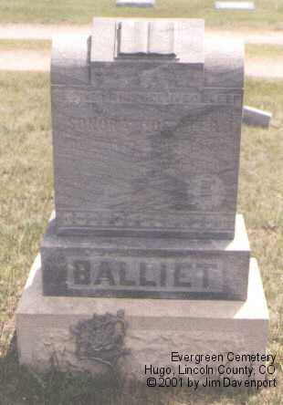 BALLIET, DEXTER T. - Lincoln County, Colorado | DEXTER T. BALLIET - Colorado Gravestone Photos