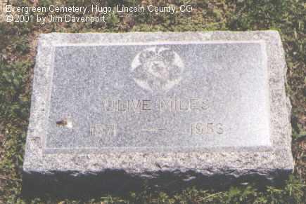 MILES, OLIVE - Lincoln County, Colorado | OLIVE MILES - Colorado Gravestone Photos