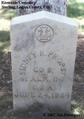 PROPST, SIDNEY R. - Logan County, Colorado | SIDNEY R. PROPST - Colorado Gravestone Photos