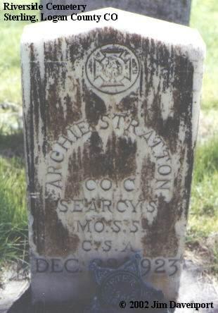 STRATTON, ARCHIE C. - Logan County, Colorado | ARCHIE C. STRATTON - Colorado Gravestone Photos