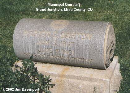 BARTON, MARION E. - Mesa County, Colorado | MARION E. BARTON - Colorado Gravestone Photos