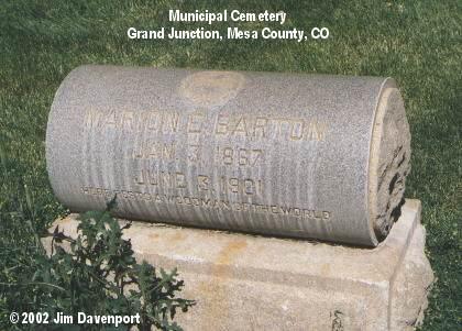 BARTON, MARION E. - Mesa County, Colorado | MARION E. BARTON - Colorado Gravestone Photos