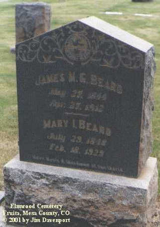 BEARD, JAMES M. G. - Mesa County, Colorado | JAMES M. G. BEARD - Colorado Gravestone Photos