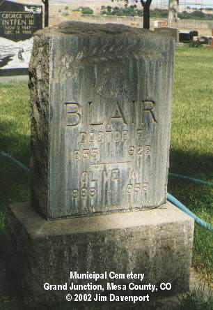 BLAIR, DOCTOR F. - Mesa County, Colorado | DOCTOR F. BLAIR - Colorado Gravestone Photos