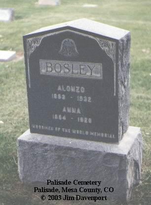 BOSLEY, ANNA - Mesa County, Colorado | ANNA BOSLEY - Colorado Gravestone Photos