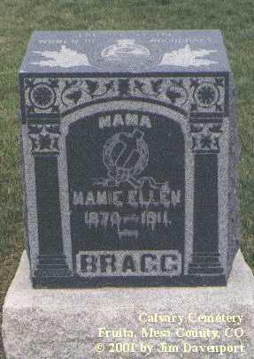 BRAGG, MAMIE ELLEN - Mesa County, Colorado | MAMIE ELLEN BRAGG - Colorado Gravestone Photos