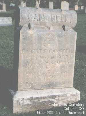 CAMPBELL, ELBERT E. - Mesa County, Colorado | ELBERT E. CAMPBELL - Colorado Gravestone Photos