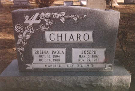 CHIARO, JOSEPH - Mesa County, Colorado | JOSEPH CHIARO - Colorado Gravestone Photos