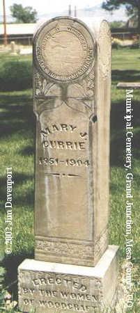 CURRIE, MARY J. - Mesa County, Colorado | MARY J. CURRIE - Colorado Gravestone Photos