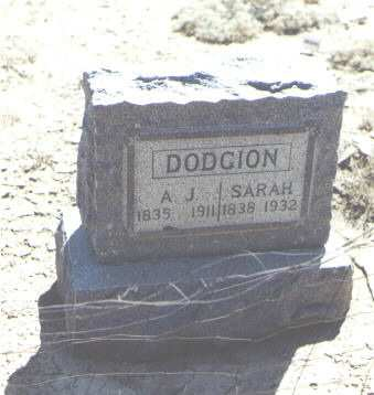 DODGION, SARAH - Mesa County, Colorado | SARAH DODGION - Colorado Gravestone Photos