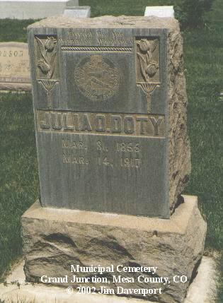 DOTY, JULIA O. - Mesa County, Colorado | JULIA O. DOTY - Colorado Gravestone Photos