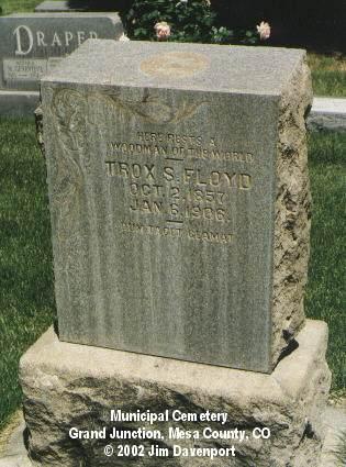FLOYD, TROX S. - Mesa County, Colorado   TROX S. FLOYD - Colorado Gravestone Photos