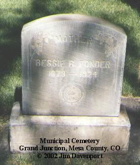 FONDER, BESSIE B. - Mesa County, Colorado   BESSIE B. FONDER - Colorado Gravestone Photos