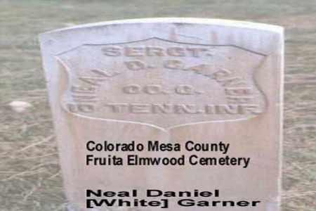 WHITE GARNER, NEAL DANIEL - Mesa County, Colorado   NEAL DANIEL WHITE GARNER - Colorado Gravestone Photos