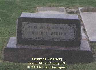 GENTRY, ALLEN F. - Mesa County, Colorado   ALLEN F. GENTRY - Colorado Gravestone Photos