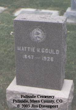 GOULD, MATTIE H. - Mesa County, Colorado | MATTIE H. GOULD - Colorado Gravestone Photos