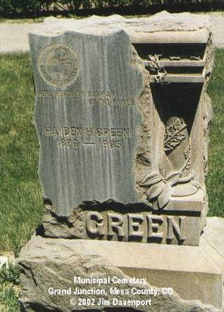 GREEN, HAYDEN H. - Mesa County, Colorado | HAYDEN H. GREEN - Colorado Gravestone Photos