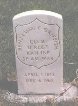 GRIFFITH, BENJAMIN F. - Mesa County, Colorado | BENJAMIN F. GRIFFITH - Colorado Gravestone Photos
