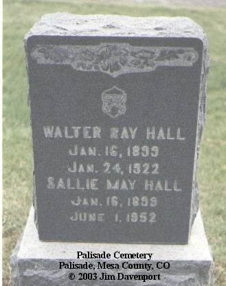HALL, SALLIE MAE - Mesa County, Colorado | SALLIE MAE HALL - Colorado Gravestone Photos