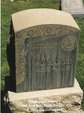 HONECKER, FRANK J. - Mesa County, Colorado | FRANK J. HONECKER - Colorado Gravestone Photos