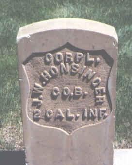 HONSINGER, J. W. - Mesa County, Colorado | J. W. HONSINGER - Colorado Gravestone Photos