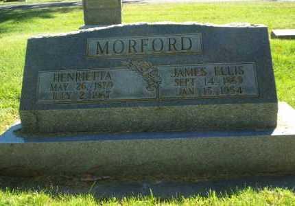 MORFORD, JAMES ELLIS & HENRETTA - Mesa County, Colorado | JAMES ELLIS & HENRETTA MORFORD - Colorado Gravestone Photos