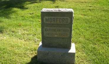 MORFORD, MARION ARTHUR - Mesa County, Colorado   MARION ARTHUR MORFORD - Colorado Gravestone Photos