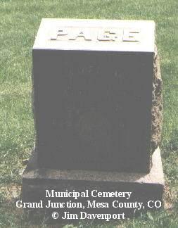 PAGE, JAMES M. - Mesa County, Colorado | JAMES M. PAGE - Colorado Gravestone Photos