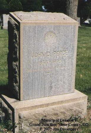 PERCE, JOHN O. - Mesa County, Colorado | JOHN O. PERCE - Colorado Gravestone Photos