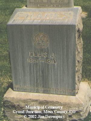 PHARES, ELLIS J. - Mesa County, Colorado | ELLIS J. PHARES - Colorado Gravestone Photos