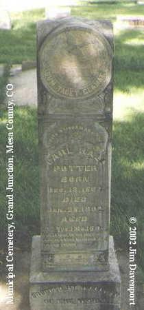 POTTER, CARL HALL - Mesa County, Colorado | CARL HALL POTTER - Colorado Gravestone Photos
