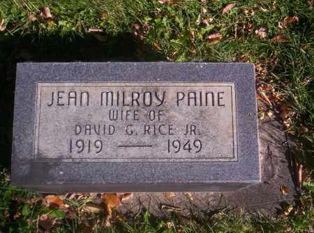 RICE, JEAN MILROY PAINE - Mesa County, Colorado | JEAN MILROY PAINE RICE - Colorado Gravestone Photos