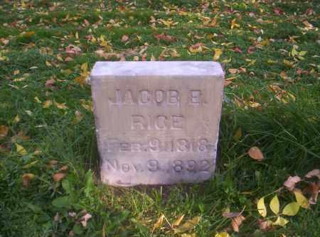 RICE, JACOB E. - Mesa County, Colorado | JACOB E. RICE - Colorado Gravestone Photos