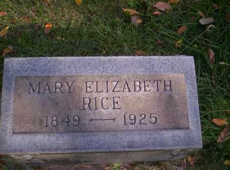 RICE, MARY ELIZABETH - Mesa County, Colorado | MARY ELIZABETH RICE - Colorado Gravestone Photos
