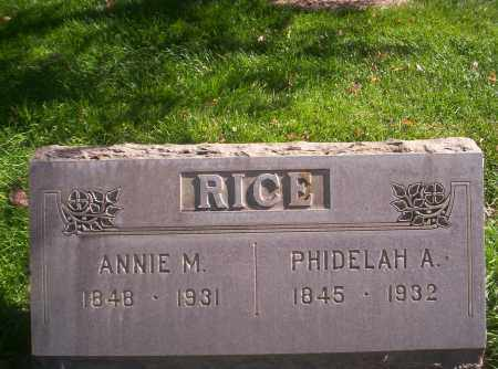 RICE, PHIDELAH A - Mesa County, Colorado | PHIDELAH A RICE - Colorado Gravestone Photos