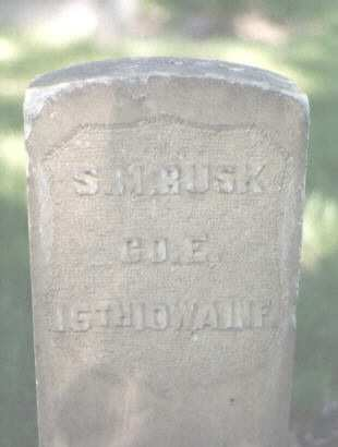 RUSK, S. M. - Mesa County, Colorado | S. M. RUSK - Colorado Gravestone Photos