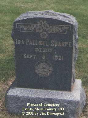 SHARPE, IDA - Mesa County, Colorado   IDA SHARPE - Colorado Gravestone Photos