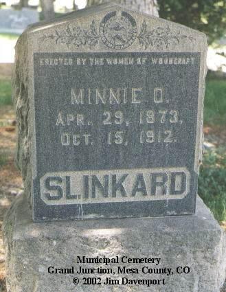 SLINKARD, MINNIE O. - Mesa County, Colorado   MINNIE O. SLINKARD - Colorado Gravestone Photos