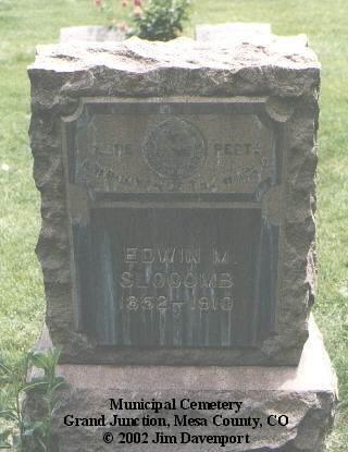 SLOCOMB, EDWIN M. - Mesa County, Colorado   EDWIN M. SLOCOMB - Colorado Gravestone Photos