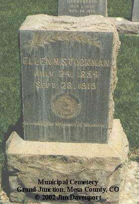 STOCKMAN, ELLEN M. - Mesa County, Colorado   ELLEN M. STOCKMAN - Colorado Gravestone Photos