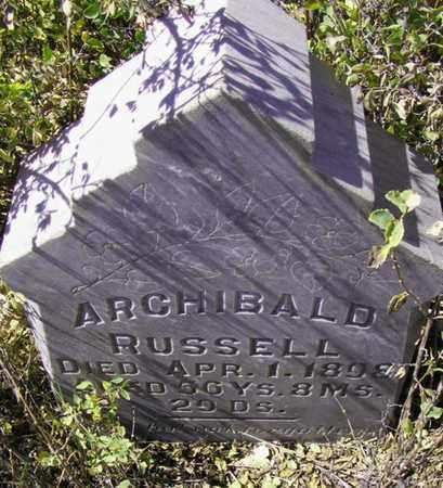 ARCHIBALD, RUSSELL - Mineral County, Colorado | RUSSELL ARCHIBALD - Colorado Gravestone Photos