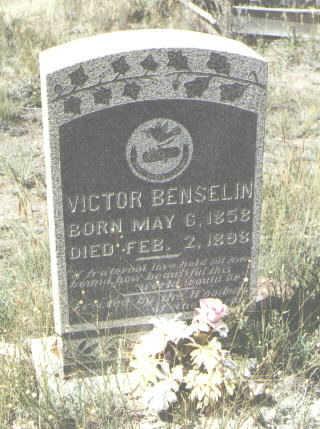 BENSELIN, VICTOR - Mineral County, Colorado | VICTOR BENSELIN - Colorado Gravestone Photos